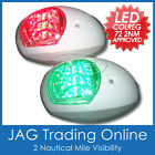 LED NAVIGATION LIGHTS WHITE HOUSINGS - USCG - Port/Starboard Marine Boat Nav BLW