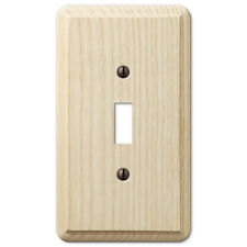 SINGLE (1) TOGGLE UNFINISHED ASH WOOD SWITCHPLATE WALLPLATE: PAINT OR STAIN