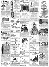 Victorian Adverts; Water Barrows, Ching-Wo Tea, SwanbillBelts -Advert Print 1885
