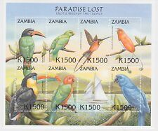 Zambia - Exotic Birds of the Tropics, 2000 - Sc 886 Sheetlet of 8 MNH