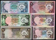 KUWAIT 1/4 1/2 1 5 10 20 DINARS P11 12 13 14 15 16 1980 BOAT UNC COMPLETE 100SET
