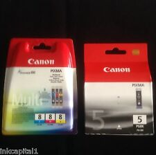1 Set 4 Canon Original OEM Pixma Inkjet Cartridges For MP520 - PGI-5BK & CLI-8BK