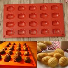 20 Cavity Mini Madeleine Shell Cake Pan Silicone Mold Cookies Baking Mould Tool