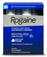 Rogaine Hair Regrowth for Men 5% Minoxidil Topical Foam 4-month Supply Exp: 3/18