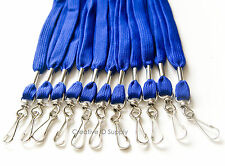 100 PCS ROYAL BLUE COLOR ID NAME BADGE STRAP HOLDER NECK LANYARDS SWIVEL J HOOK