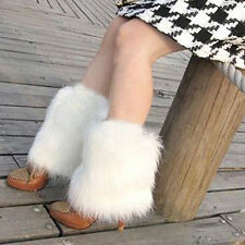 Gift Fluffies Fluffy Furry Leg Warmers Boots Covers Rave Furries White SV