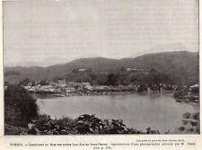 VIETNAM TONKIN CONFLUENT NAM THI ENTRE LAO KAI & SONG PHONG IMAGE 1902 OLD PRINT