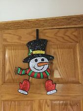 Over the Door Snowman Wreath Holder. New in Box