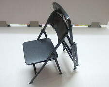 Custom 1/6 Scale Toy Folding Chair X2 For Hot Toys Narrow Shoulder Body Display
