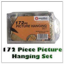172Pc Kit colgante de imágenes de hasta 50LBS paquete grande de suspensión Alambre/uñas/Gancho/Lienzo