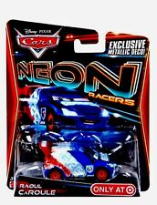 DISNEY PIXAR CARS RAOUL CAROULE NEON RACERS Target Exclusive New