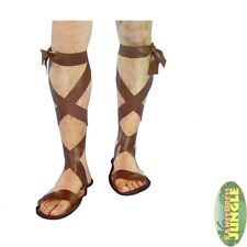 ROMAN SPARTAN WARRIOR GREEK HALLOWEEN SANDALS - mens fancy dress accessory