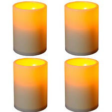 New 4 PCS LED Flameless Tealights Battery Operated Flickering Tea Light Candles