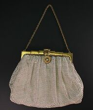 Whiting & Davis Mesh Evening Bag Purse White Enamel