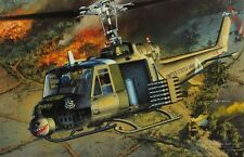 MRC 1:35 UH-1 C Huey Heavy Hog Helicopter w/ 4 Figures Plastic Kit #BA107