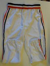 NOS Vtg 80s Wilson Men's Baseball Pants Size 34 White Orange Black Stripes USA