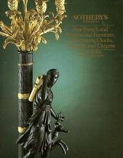 Sotheby's French Continental Furniture Decorations Auction Catalog 1990