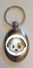 FUN CUTE DOG PUP EMOJI - REUSABLE £1 SHOPPING TROLLEY TOKEN - GREAT GIFT IDEA