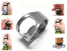 STEEL BOTTLE TOP BEER CAP OPENER RING ~ Parties, Pubs, Novelty Gift, etc