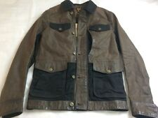 New! $898 NWT Timberland 'Tenon' 100% Caw Leather Jacket USA sz. S, Small