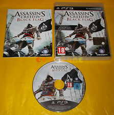 ASSASSIN'S CREED IV 4 BLACK FLAG Ps3 Versione Italiana 1ª Edizione COMPLETO - BT