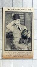 1915 Mr George Graves, Principal Comedian In Watch Your Step Revue, With Mongrel