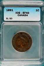 1891 ICG EF40 SL SD Canada One Cent!! #B4876