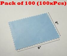 "100x Microfiber Cleaning Cloth 2x3"" 60mmx80mm For Phone Screen Glass Camera Lens"