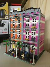 Lego Custom Modular Building, Pink Town House Like 10182