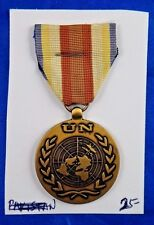 UN United Nations In The Service of Peace Medal Pin Pinback Ribbon