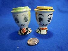 Vintage Straw Hat Man Woman Bust Salt and Pepper Shakers Ceramic Lego         38