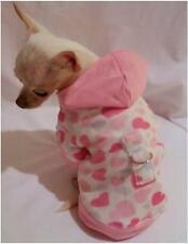 Hearts Galore Cuddle Minky Dog Hoodie/Dog clothes/chihuahua/ xs,s,m,l
