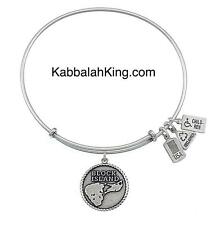 Wind & Fire Block Island Charm Silver Expandable Bangle Bracelet Made In USA