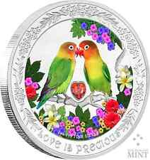 2017 Niue -  Love Is Precious Silver Coin 1 oz - Lovebirds