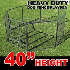 "New MTN 40"" Heavy Duty Pet Dog Metal Exercise Pen Playpen Cage Fence Crate Gate"