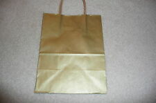 """SHINY GOLD MEDIUM SIZE PAPER GIFT BAGS WITH HANDLES (8""""x4.25x10"""") 20 PACK (OUT)"""