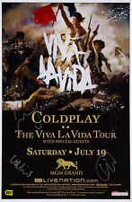 COLDPLAY - THE VIVA LA VIDA SIGNED CONCERT TOUR POSTER - LOOKS GREAT FRAMED