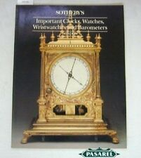 Sothebys Watches Wristwatches Clocks Barometers Catalog