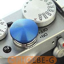 Blue Metal Soft Release Button for Leica Contax Fujifilm X100 size:L