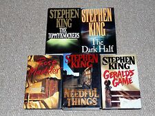 Stephen King Lot of 5 1st Edition HC/DJ Books The Dark Half Needful Things More