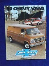1980 CHEVY VANS BROCHURE GENERAL MOTORS CANADA TRUCK COLLECTOR