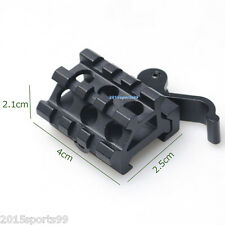 Quick Release Dual Rail (90 and 45 degree) Picatinny Riser Scope Angle Mount #5