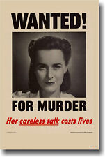 Wanted for Murder Her Careless Talk Cost Lives - POSTER
