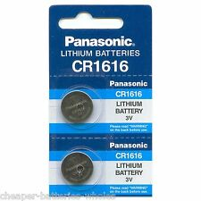 2 PANASONIC CR1616 ECR1616 CR 1616 3v Lithium battery