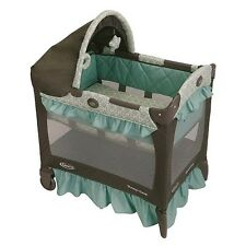 Graco Baby Bassinet Travel Lite Portable Crib Infant Play Yard Cradle Winslet
