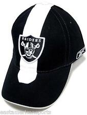 Oakland Raiders NFL Reebok Sideline Hat Cap Black / White Skunk Stripe OSFA