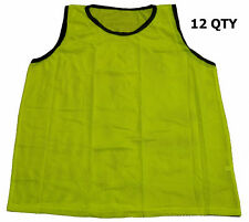 WORKOUTZ YOUTH SCRIMMAGE VESTS YELLOW (12 QTY) MESH SOCCER PINNIES CHILD KIDS