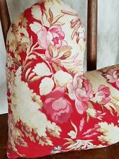 Antique French Heart Pillow Decoration Pink Red Roses French Linen Red Ticking