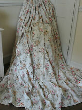 EXTRA WIDE TRUE VINTAGE DITSY ROSE PRINT CURTAINS 100%COTTON FABRIC SHABBY CHIC