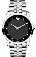 Movado Museum Classic 0606878 Black/Silver Stainless Steel Analog Swiss Quartz